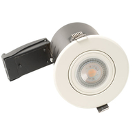 BG Luceco GU10 Fire Rated Downlight Adjustable White EFRDGUAWH