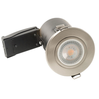 BG Luceco GU10 Fire Rated Fixed Downlight Brushed Steel EFDGUFBS