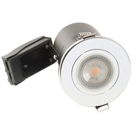 BG Luceco GU10 Fire Rated Fixed Downlight Polished Chrome EFDGUFPC