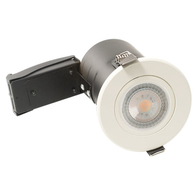 BG Luceco GU10 Fire Rated Fixed Downlight White EFDGUFWH