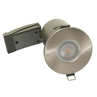 BG Luceco GU10 Shower Downlight IP65 Fire Rated Brushed Steel EFDGUIPBS