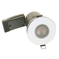 BG Luceco GU10 Shower Downlight IP65 Fire Rated Polished Chrome EFDGUIPPC
