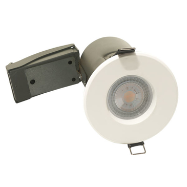 BG Luceco GU10 Shower Downlight IP65 Fire Rated White EFDGUIPWH