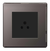 BG Nexus Black Nickel Screwless 2A Socket FBN28B