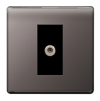 BG Nexus Black Nickel Screwless Satellite Socket FBN64