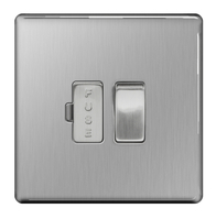 BG Nexus Brushed Steel Screwless 13A Fused Connection Unit FBS50