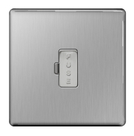 BG Nexus Brushed Steel Screwless 13A Unswitched Fused Connection Unit FBS54