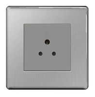 BG Nexus Brushed Steel Screwless 5A Unswitched Socket FBS29G