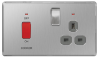 BG Nexus Brushed Steel Screwless Cooker Switch & Socket FBS70G