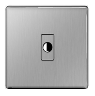 BG Nexus Brushed Steel Screwless Flex Outlet FBSFLEX