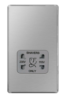BG Nexus Brushed Steel Screwless Shaver Socket FBS20G