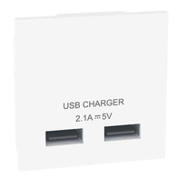 BG Nexus Double USB Charging Module White - EMUSBW