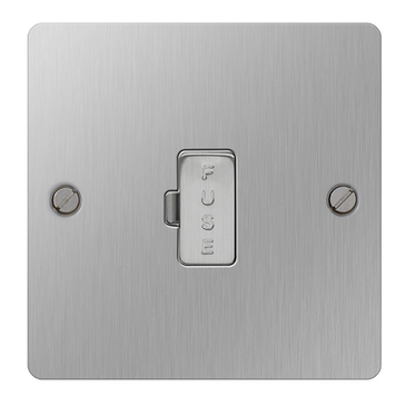 BG Nexus Flatplate Screwed 13A Unswitched Spur Unit Brushed Steel SBS54
