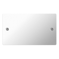 BG Nexus Flatplate Screwed Double 2G Blank Plate Polished Chrome SPC95
