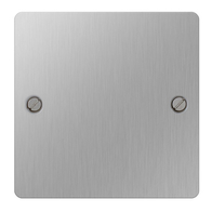BG Nexus Flatplate Screwed Single 1G Blank Plate Brushed Steel SBS94