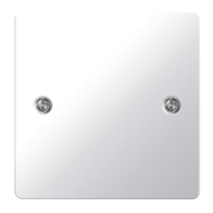 BG Nexus Flatplate Screwed Single 1G Blank Plate Polished Chrome SPC94