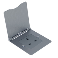 BG Nexus Flatplate Screwed Unswitched Floor Socket 1G 13A Brushed Steel SBS23G/FR