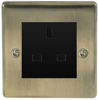 BG Nexus Metal Antique Brass 13a Unswitched Socket NABUSSB