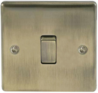 BG Nexus Metal Antique Brass Light Switch 1G 2W NAB12
