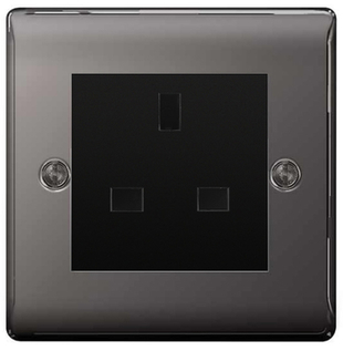 BG Nexus Metal Black Nickel 13A Unswitched Socket NBNUSS