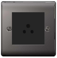 BG Nexus Metal Black Nickel 2A Unswitched Socket NBN28B