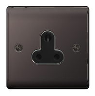 BG Nexus Metal Black Nickel 5A Unswitched Socket NBN29B
