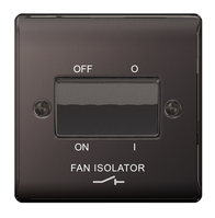BG Nexus Metal Black Nickel Fan Isolator Switch NBN15