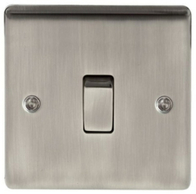 BG Nexus Metal Brushed Iridium Light Switch 1G 2W NBI12