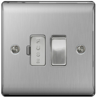 BG Nexus Metal Brushed Steel 13A Switched Spur NBS50