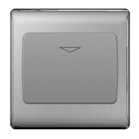 BG Nexus Metal Brushed Steel 16A Hotel Key Switch NBSKYCSG