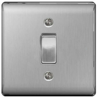 BG Nexus Metal Brushed Steel 20A DP Switch NBS30