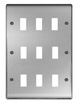 BG Nexus Metal Brushed Steel 9G Grid Plate GNBS9
