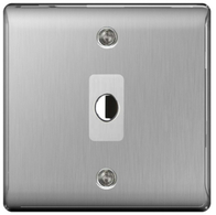 BG Nexus Metal Brushed Steel Flex Outlet NBSFLEX