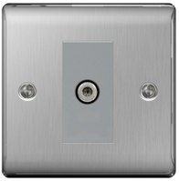 BG Nexus Metal Brushed Steel Satellite Socket NBS64