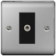 BG Nexus Metal Brushed Steel Satellite Socket NBS64B