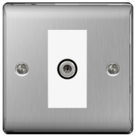 BG Nexus Metal Brushed Steel Satellite Socket NBS64W
