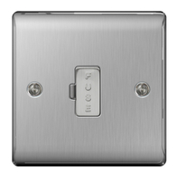 BG Nexus Metal Brushed Steel 13A Unswitched Spur NBS54