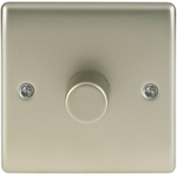 BG Nexus Metal Pearl Nickel Dimmer Switch Halogen/LED NPR81P