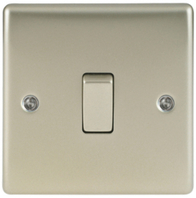 BG Nexus Metal Pearl Nickel Light Switch 1G 2W NPR12