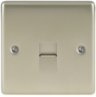BG Nexus Metal Pearl Nickel Telephone Socket Master NPRBTM1