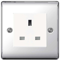 BG Nexus Metal Polished Chrome 13a Unswitched Socket NPCUSS