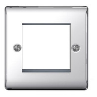BG Nexus Metal Polished Chrome 2G Euro Module Plate NPCEMS2