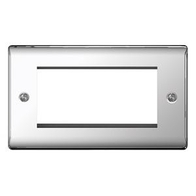 BG Nexus Metal Polished Chrome 4G Euro Module Plate NPCEMR4