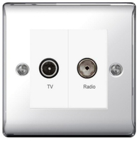 BG Nexus Metal Polished Chrome Diplex TV/FM NPC66