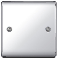 BG Nexus Metal Polished Chrome Single Blank Plate NPC94
