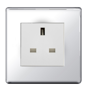 BG Nexus Polished Chrome Screwless 13A Unswitched Socket FPCUSSW