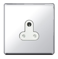 BG Nexus Polished Chrome Screwless 2A Socket FPC28W