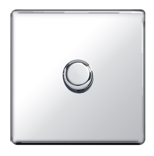 BG Nexus Polished Chrome Screwless Dimmer 1G FPC81P