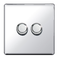 BG Nexus Polished Chrome Screwless Dimmer 2G FPC82P