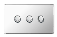 BG Nexus Polished Chrome Screwless Dimmer 3G FPC83P